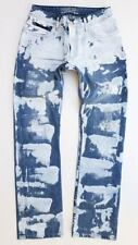 New Men ROBIN'S JEAN sz 44 Straight Leg Jeans -Coated/Waxed/Patches