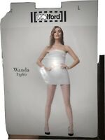 Wolford Wanda Tights Size Large In Black Fishnet Style