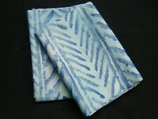 New Ralph Lauren Standard 2 Pillowcases PAISLEY JAMAICA BLUE HERRINGBONE CHEVRON
