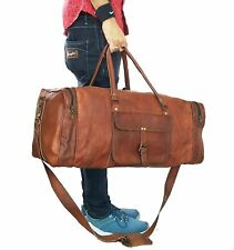 "23"" Leather Duffle Bag Overnight Weekend Travel Luggage Handbag Hold-All Bag"