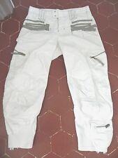 joli Pantacourt Marithé François Girbaud blanc F 36 , trousers