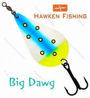 🌟 Hawken Simon Wobbler Trolling Spoon Fishing Lures - Select Color at Checkout