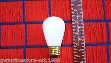 BOX of 25 } CERAMIC SNOW WHITE outdoor 11w sign S14 marquee LIGHT BULB 11 watt