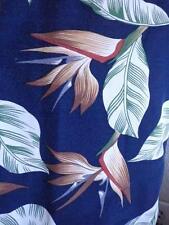 PINEAPPLE JUICE Large Hawaiian Shirt Birds of Paradise Floral Blue