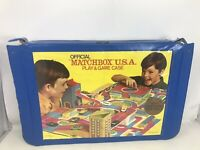 Vtg 1969 Matchbox USA Play & Game Case City Layout In Ok Shape Lesney NO CARS