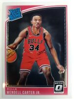 2018 Panini Donruss Optic Rated Rookies Wendell Carter Jr Rookie RC #170, Bulls