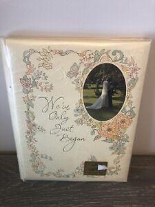Vintage 1976 HALLMARK Wedding Keepsake Record Guest Book Album New