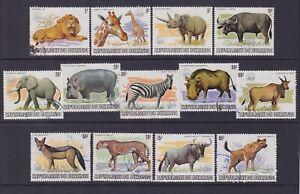 Burundi 1983 Used stamps set WWF Wild Animals Cob 892/904 - Catalogue value 700€