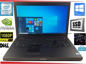 "17.3"" Dell Precision M6700 Laptop Core i7 16GB 250GB SSD +HDD NVIDIA Workstation"