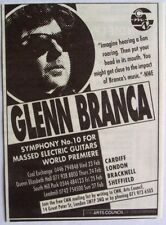 GLENN BRANCA 1994 Advert SYMPHONY No. 10