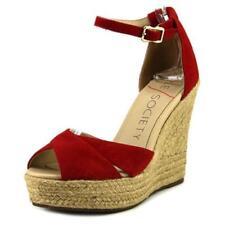 Sandalias y chanclas de mujer de tacón alto (más que 7,5 cm) de color principal rojo talla 39