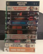 Clint Eastwood VHS Lot of 11 SEALED Good Bad Ugly Fistful Dollars Dirty Harry