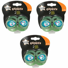 3 x TOMMEE TIPPEE Explora 6-18 month Baby Boy BPA Free Latex Cherry Teat Soother