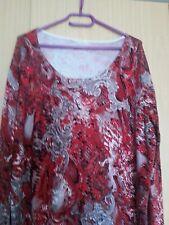 Damen Pullover Gr.50  guter Zustand Rot  mit Muster