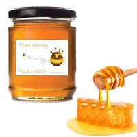 180 Honey Jar labels preserve jam jar beehive sign personalised sticker decal se