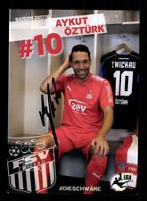 Aykut Öztürk Autogrammkarte FSV Zwickau 2017-18 Original Signiert+A 171760