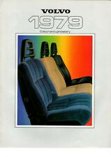 VOLVO COLOUR TRIM 240 244 245 260 262 264 265 GLE 343 DL CHART 1979 UK brochure