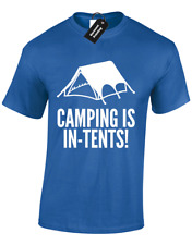 Camping ist in Zelten Herren T Shirt Lustig Camper Design Top Walking Wandern S - 5XL