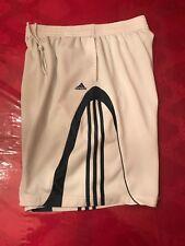 Adidas 3-Stripes Athletic Gym Basketball Shorts White/Blue Men's Size Xl Large