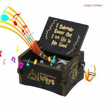 Harry Potter Wooden Black Engraved Music Box Fun Interesting Toy Child XMAS Gift