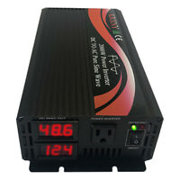 2000W Pure Sine Wave Power Inverter 48V DC to 110V AC with LED Display US Stock