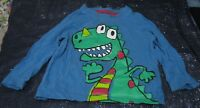 Great long sleeved T Shirt Blue with Monster Dinosaur 12 - 18 months 100% cotton