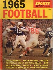 1965 Sports Review Magazine Football Guide Johnny Unitas Baltimore Colts ~ Good