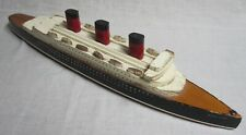 Vintage Queen Mary Wooden Model/Pull Toy w/Life Boats - Large Size