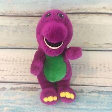 "Barney Plush 10"" Stuffed Animal Purple Dinosaur Lyons 1992 Vintage Toy 1990s"