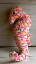 "A32 Ripley's Aquariums Rainbow Seahorse Plush! 22"" Toy Lovey Girls Pink Pony"
