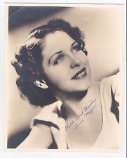 Anne Nagel Original 1936 Signed Autograph 8x10 Photograph ! Rare