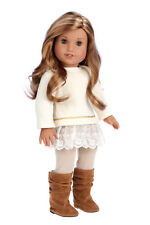 Romantic Melody - 18 inch American Girl Doll Clothes - Tunic, Leggings, Boots
