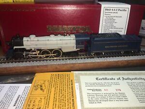 Mantua B&O 4-6-2 Pacific Steam Locomotive W/Sagami Can Motor, Smoke,backup Light
