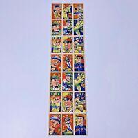 Vintage Japanese Baseball Rare Menko Card ' Kawakami ' Giants uncut sheet