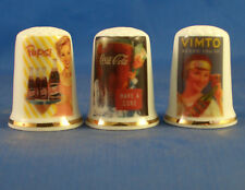 Birchcroft Thimbles -- Set of Three - Vintage Advertising Posters - Soft Drinks