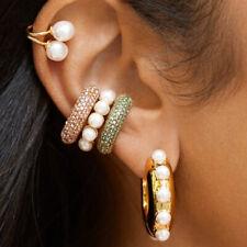 Ohrring Ear Cuff Modeschmuck in Gold oder Bunt verschiedene Designs Ohrschmuck