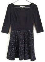 Lauren Conrad Black White Stars Dress SIZE 6 Holiday Party Career Formal