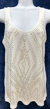 Almost Famous Scoop Neck Knot Back Studded Tank Top Sz: M NWT! MSRP $28