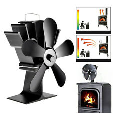 Fireplace Fan Heat Power 8.8inch 5 Blades Wood Burner Stove Thermal