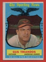 1959 Topps #568 Gus Triandos EX-EXMINT+ Baltimore Orioles All-Star FREE SHIPPING
