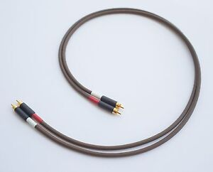 Belden 8402 with Switchcraft 3502ABAU, High-End RCA Interconnect Cable Pair