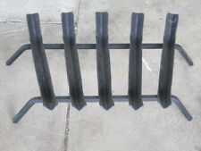 Fireplace grate steel large wide bar.
