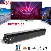 US Bluetooth Wireless TV Soundbar 4Speaker 3D Sound Bar Home Theater Subwoofer