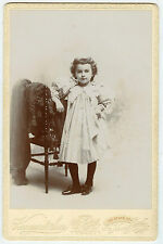Cabinet Photo - New London, Connecticut-Little Girl Posing With Curly Hair