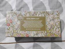 2 Leonardo Collection tazas De Porcelana Fina William Morris Golden Lily Box Set