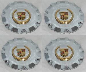 "4 CAP DEAL MC2 CADILLAC SRX 17"" WHEEL RIM CENTER CAP 4580 4593 MC2-C4580GWC GOLD"