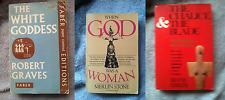 Lot of 3 Goddess History & Mythology Books Womens Spirituality Graves Stone