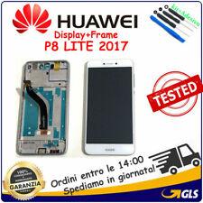 SCHERMO LCD DISPLAY Per Huawei P8 Lite 2017 FRAME PRA-LX1 PRA-LA1 PRA-LX3 BIANCO