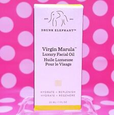 DRUNK ELEPHANT VIRGIN MARULA LUXURY FACIAL OIL FULL SIZE 1 OZ NEW BOX AUTHENTIC