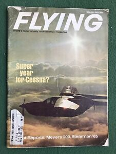 Flying March 1965 vintage magazine planes airplanes aviation